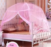 CdyBox Foldable Baby Adult Double Zipper Door Sleeping Yurt Mosquito Net Bed Canopy with Stand