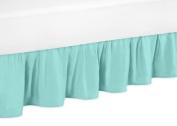 Solid Turquoise Toddler Bed Skirt for Girls Skylar Kids Childrens Bedding Sets