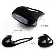 1Pc Apogee 3 Mode 7x LED Popular Silicone Bike Light Warning Indicator Brightness Rear Bicycle Colour Black