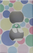 Pastel Multi Coloured Dot Outlet Switch Plate Covers in Pink, Blue, Green, Yellow, and Pule