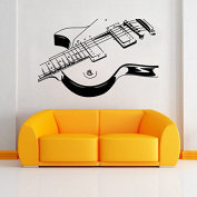 Art Guitar Wall Stickers DIY Home Decorations Music Wall Decals Living Room 9321