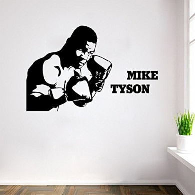 Aiwall 9319 Art Mike Tyson Wall Stickers DIY Home Decorations Boxing Wall Decals Living Room