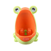 Foryee Cute Frog Potty Training Urinal for Boys with Funny Aiming Target - Yellow