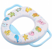 Dofull Baby Toddler Kids Safety Potty Training Toilet Seat Light Blue