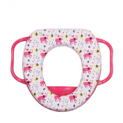 Dofull Baby Toddler Safety Potty Training Toilet Seat with Handle Soft Trainer