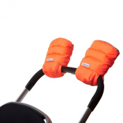 7 A.M. ENFANT Stroller WarMMuffs for Parents and Caregivers, Neon Orange