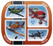 Zak! Designs 4-section divided plate with Planes graphics from Disney, BPA-free