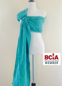 Bibetts Pure Linen Ring Sling 'Aqua'