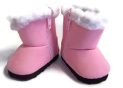 46cm doll Pink Boots with Fur Trim Made for 46cm American Girl Doll Clothes