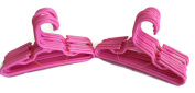 Doll Hangers Set of 24 Plastic Hangers Pink, Fits 46cm American Girl Dolls Clothes, Doll Accessories