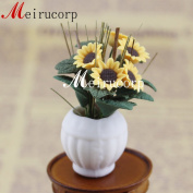 1/12 Scale Well Made Miniature Gorgeous Sunflower for Dollhouse Decoration