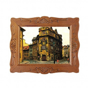 Generic 1/12 Fine Scale Miniature Picture City Old Buildings Dollhouse Decoration