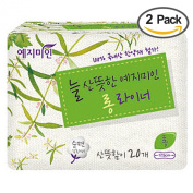 Yejimiin Sanitary Napkins Liner, Long, Mild Herbal Scent, 175mm, 40 Count, Pack of 2
