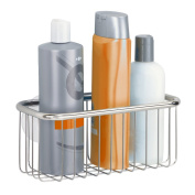 InterDesign Forma Ultra Suction Bathroom Shower Caddy for Shampoo, Conditioner, Soap - Rectangle, Polished Stainless Steel
