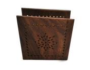 StarZebra Todays Deal - Wood Luncheon Napkin Holder - Decorative Dining Centrepiece Napkin Organiser