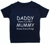 Daddy Knows A Lot But Mummy Knows Everything Baby/Children T-Shirt/Tops - 3 - 6 Months - Blue