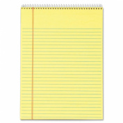 TOPS Wirebound Docket Legal Writing Pads, 22cm x 30cm , Canary, 70 Sheets per Pad, 3 Pads per Pack