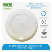 ECO-PRODUCTS,INC. Eco-Lid 25% Recycled Content Hot Cup Lid ECOEPHL8WR