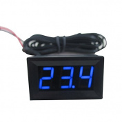 TmallTech DC12V Blue Digital LED Thermometer 2m Sensor Probe -50~110C Temperature Detector