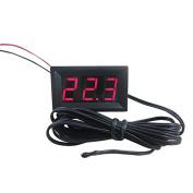 TmallTech DC 12V Red Digital Thermometer 2m Sensor Probe -50~110C Temperature Detector LED