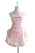 Lovely Lace Work Aprons Home Shop Kitchen Cooking Tools Gifts for Women Aprons,pink