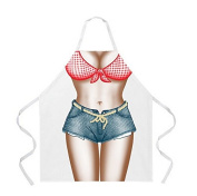 Yunko Hot Lovely Cheap Funny Aprons Bikini & Shorts Sexy Kitchen Apron Funny Creative Cooking Aprons for Women Ladies Girlfriend Christmas Gifts
