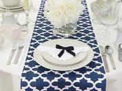 Fulton Navy Blue Table Runner