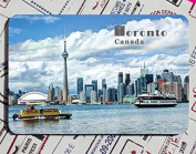 Canada features creative tourism souvenirs Magnetic fridge magnet in Toronto
