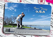 U.S. tourism souvenir Magnetic refrigerator, San Diego, the kiss of victory