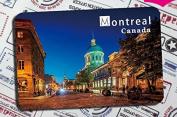 Canadian tourist souvenirs Fridge magnets soft magnetic stick Montreal, Quebec