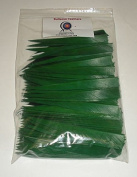 Bullseye Feathers 13cm RWSC Pkg/100 Forest Green