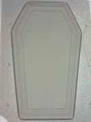 Flexible Resin or Chocolate Mould Blank Coffin