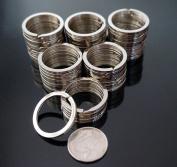 """Shans 20 Pack 1.18"""" (30mm) Nickel Plated Steel Heat Treated Split Rings/key Rings"""