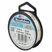 Beadalon 49-Strand Bead Stringing Wire, 0.05cm , Silver Plated, 3m