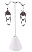 Earring Stand 10cm - 1.6cm White Leatherette Jewellery Display