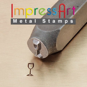 ImpressArt, Metal Jewellery Design Stamp, Champagne Glass, 6mm
