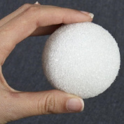 Package of 24 White Styrofoam Balls 6.4cm in Diameter