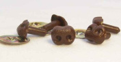 Sassy Bears 8mm Brown Bear Dog Animal Safety Nose for Bear, Doll, Puppet, Plush Animal and Craft - 10 pack