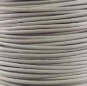 """#04 White Round Leather Cord 1mm (1/32"""") x 10 m"""
