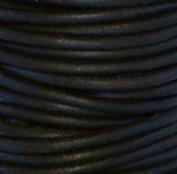 "#402 Natural Black Round Leather Cord 1.5mm (1/16"") x 10 m"