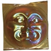 Stained Glass Jewels - 41mm Moonface - Lt Amber/gold