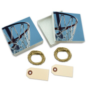 Basketball Hoop Dreaming White Gift Boxes Set of 2
