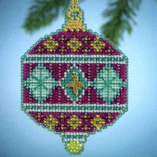 Mill Hill Jewels Christmas Ornament Counted Cross Stitch Kit w/ Glass Beads & Charm Berry MH164305