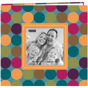 Pioneer Photo Albums 20 Page Designer Printed Raised Frame Dots Cover Scrapbook for 20cm by 20cm Pages