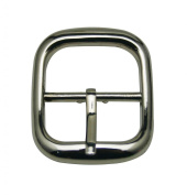 Generic Metal Silvery Rectangle Buckle with Slider Bar 2.7cm X 2.5cm Inside Dimensions for Belt Shoes Strap Keeper Accessories Pack of 12