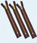 20cm YKK Pants Brass Zipper #4.5 ~ Dark Wine 864