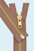 36cm Medium Weight Jacket Zipper YKK #5 Brass ~ Separating ~ 855 Rust
