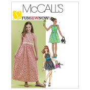 McCall's Patterns M6067 Girls'/Girls' Plus Dresses In 2 Lengths, Size GIRL