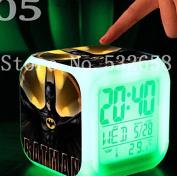 Batman 7 Colours Change Digital Alarm LED Clock Cartoon Night Colourful Toys for Kids