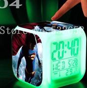 Superman 7 Colours Change Digital Alarm LED Clock Cartoon Night Colourful Toys for Kids